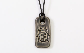Jess Teesdale - Necklace - Ladybug Black