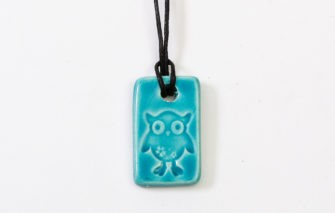 Jess Teesdale - Necklace - Owl Aqua