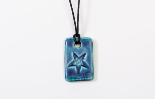 Jess Teesdale - Necklace - Striped Star Blue