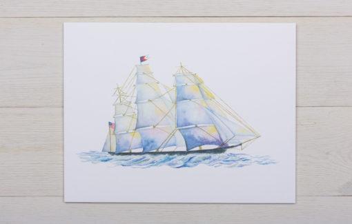 Valerie Paul - Schooner Watercolor