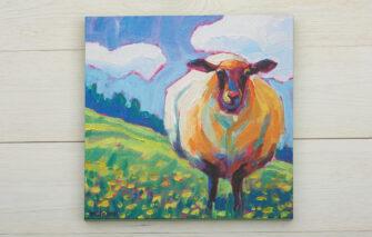Betsy McLellan - Sheep Canvas Print