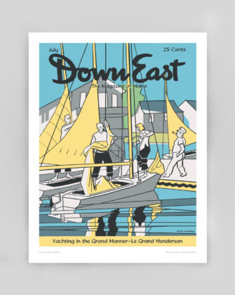 Down East Vintage Cover Poster - July 1955
