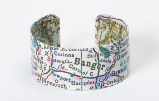 Whimsy - Chart Map Cuff - Bangor