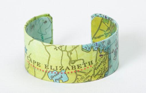 Whimsy - Chart Map Cuff - Cape Elizabeth