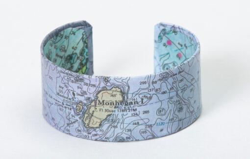 Whimsy - Chart Map Cuff - Monhegan Island
