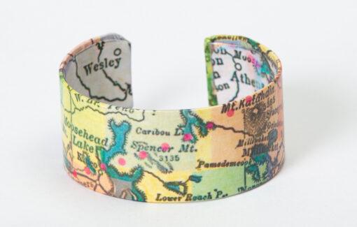 Whimsy - Chart Map Cuff - Moosehead Lake