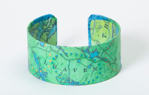 Whimsy - Chart Map Cuff - Vinalhaven Island