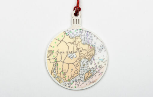 Whimsy - Chart Map Ornament - Cape Elizabeth
