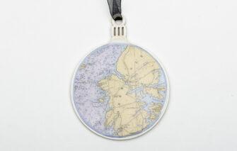 Whimsy - Chart Map Ornament - Deer Isle