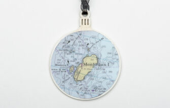 Whimsy - Chart Map Ornament - Monhegan Island