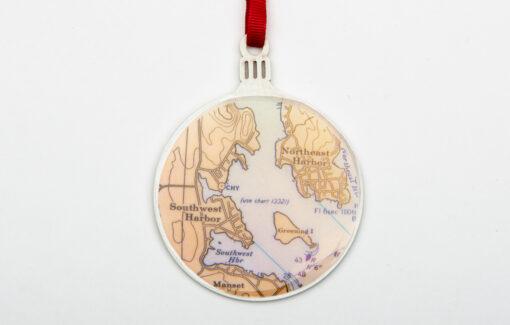 Whimsy - Chart Map Ornament - Mount Desert Island
