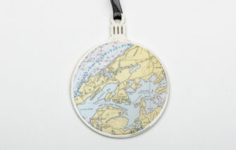 Whimsy - Chart Map Ornament - North Haven Island