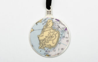 Whimsy - Chart Map Ornament - Peaks Island