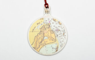 Whimsy - Chart Map Ornament - Popham