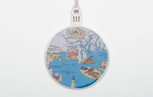 Whimsy - Chart Map Ornament - Portland