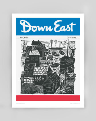 Down East Vintage Cover Poster - August 1954