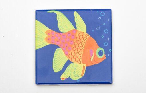 Festive Fish - Coaster - Goldie Goldfish