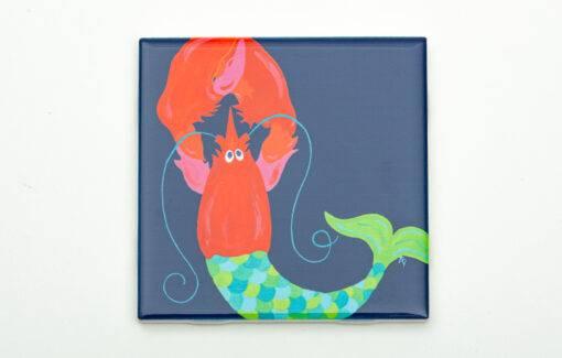 Festive Fish - Coaster - Mermaid Lobster
