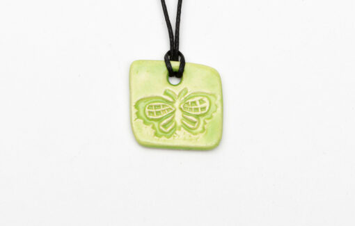 Jess Teesdale Pottery - Charm Necklace - Butterfly - Green
