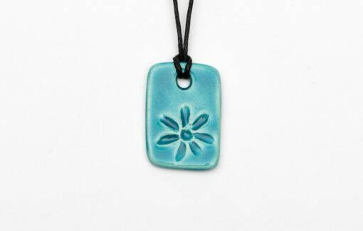 Jess Teesdale Pottery - Charm Necklace - Daisy - Aqua