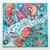 Caroline Clare Davis - Black Canvas Lobster Painting