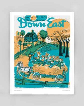 Down East Vintage Cover Poster - September 1963