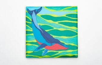Festive Fish - Coaster - Whale
