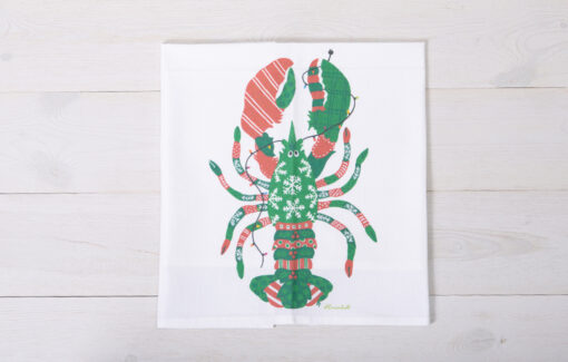 Festive Fish - Flour Sack Towel - Holiday Lobster