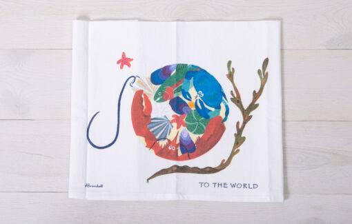 Festive Fish - Flour Sack Towel - Joy to the World