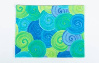Festive Fish - Salt Band - Blue and Green Moonshells