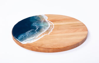 La Maree Art - Serving Board - Cherry - Round