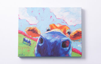 Betsy McLellen - Canvas Print - Cow