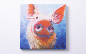 Betsy McLellen - Canvas Print - Pig