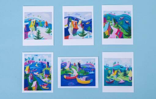 Betsy McLellen - Note Card Set - Whimsical Landscape