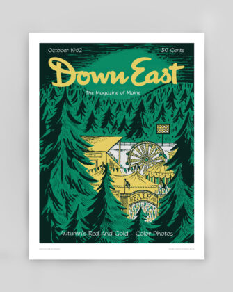Down East Vintage Cover Poster - October 1962