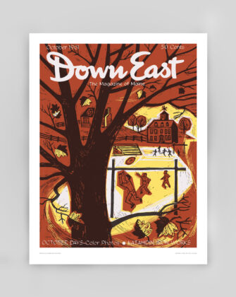 Down East Vintage Cover Poster - October 1961