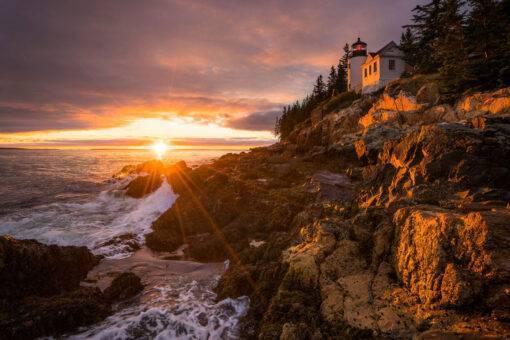 Bass-Harbor-Head-Light-Sunset