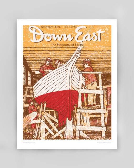 Down East Vintage Cover Poster - November 1966