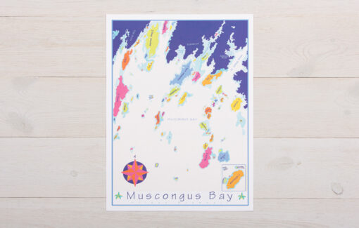 Festive Fish - Chart Poster - Muscongus Bay