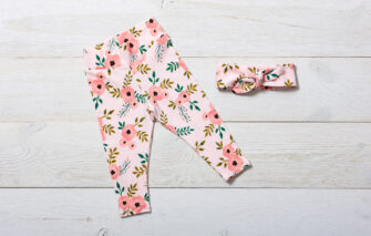 NAPTIME Knots - Legging Set - Blush Floral with Headband