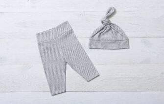 NAPTIME Knots - Legging Set - Grey and White Striped