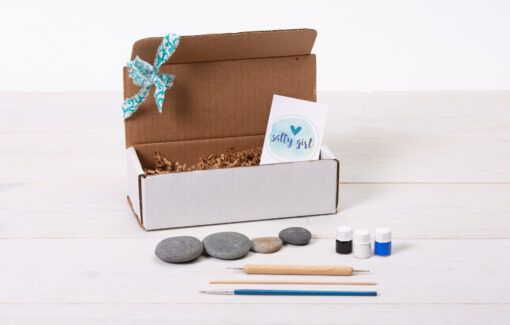 Salty Girl - Mandala Beach Stone Painting Kit