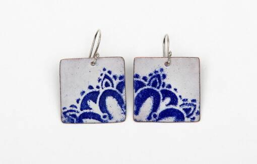 Blueberry Bay Beads - Earrings - Blue Mandala