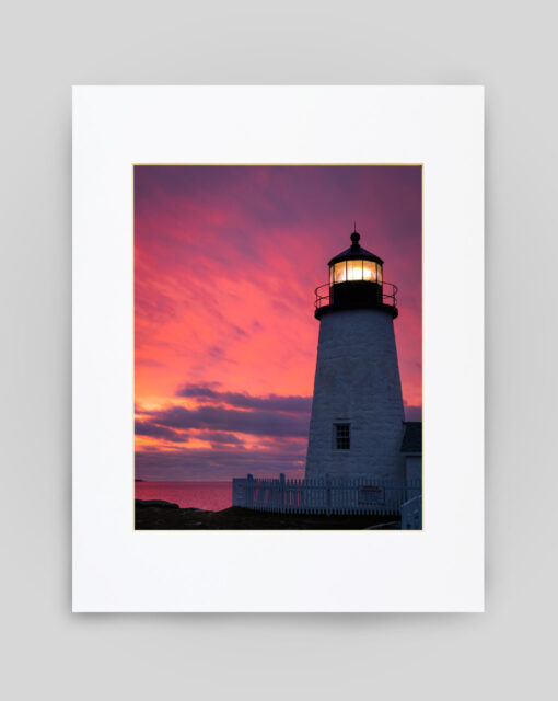 Pemaquid Red Sunrise by Ben Williamson