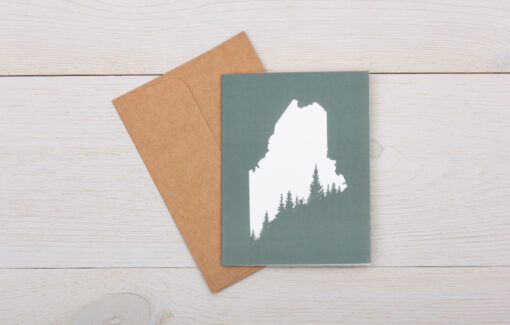 ReclaiMEd Sign Co. - Greeting Card - Maine Pine Tree Coast