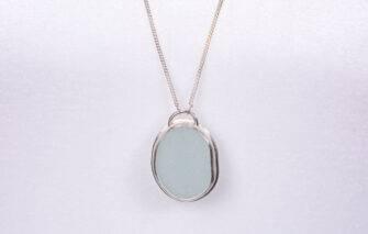 Sea Salt + Silver - Casco Bay Sea Glass Necklace