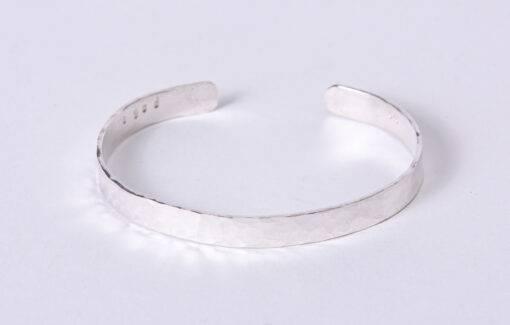 Sea Salt + Silver - Hammered Cuff Bracelet