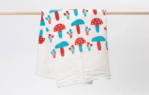 Trosko - Flour Sack Tea Towel - Mushroom