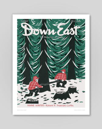 Down East Vintage Cover Poster - Winter 1955