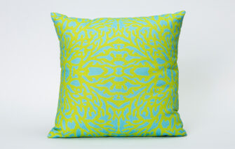 Festive Fish - Artful Pillow - Blue Green Coral